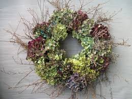 dried hydrangea and twig wreath i u0027d love to have this