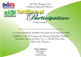 thanksgiving program sample 100 participation certificates templates certificate of
