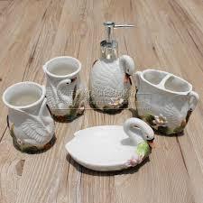 White Home Decor Accessories Aliexpress Com Buy White Swan Ceramic Toothbrush Holder Soap