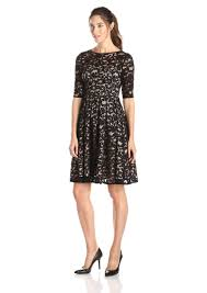papell lace dress papell papell women s 3 sleeve all lace