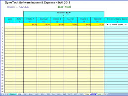 Business Expense Template For Taxes by Simple Expense Organizer For Small Business Profit Loss Report