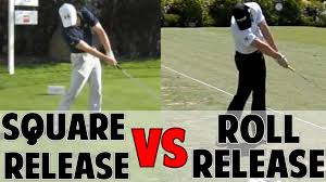 square to square driver swing how to release the golf club square vs roll release youtube
