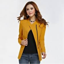spring autumn fashion long sleeve zipper suit women coat solid