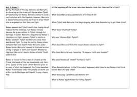 romeo and juliet comprehension questions acts 1 5 by