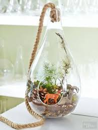 hanging glass terrarium or christmas ornament by flatherscreations