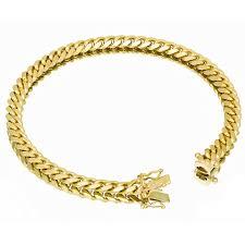 box bracelet clasps images Vermeil miami cuban link bracelet with box clasp 6mm jpg