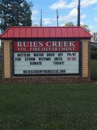 welcome to buies creek fire department