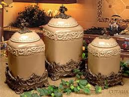 brown kitchen canister sets classic taupe large kitchen canister set of 3 design home