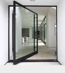 entrance glass door custom modern aluminum glass pivot entry door front double