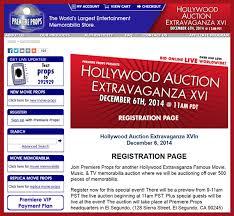 premiere props u0027hollywood extravaganza xvi u0027 auction catalog online