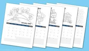 printable 2017 calendar coloring book preschoolers abcs