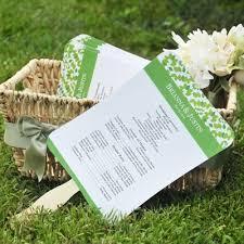 wedding program fans kit diy wedding program fans kit with design template program fans