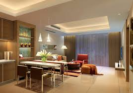 modern chic spain living room wooden ceilings and cabinets 3d house