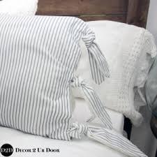 farmhouse navy u0026 white ticking stripe u0026 ties custom