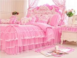Roses Duvet Cover Buy Maketop Korean Style Princess Bedding Set Lace Rose Duvet