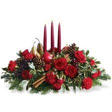 Christmas Fresh Flower Table Decorations by 48 Best Christmas Centerpieces Images On Pinterest Christmas