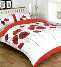 Poppy Bedding Red Poppy Bedding Bedding Queen