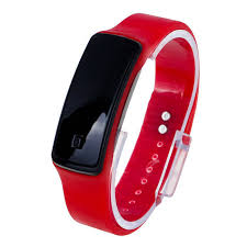 digital bracelet led watches images Unisex fashion sports rubber band led digital wrist watch red jpg