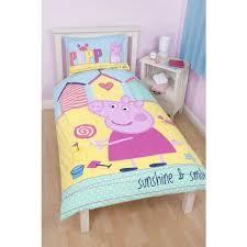 Peppa Pig Single Duvet Set Character Bedding U0026 Duvet Covers Homespace Direct