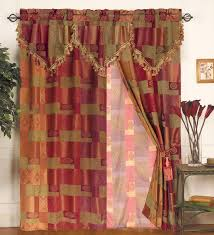 Moroccan Style Curtains Moroccan Tapestry Curtain Set W Valance Sheer Tassels Valance