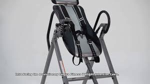innova heavy duty inversion table innova fitness itx9800 heavy duty deluxe inversion table youtube