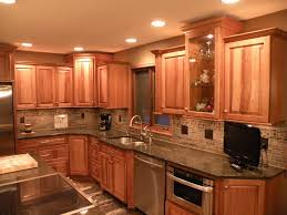Wooden Cabinets For Kitchen Hickory Kitchen Cabinets Lovely Wooden With Black Marble