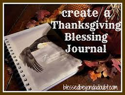 create a thanksgiving blessing journal as a keepsake blessed