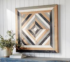 wood distressed wall pottery barn