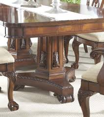 buy antebellum double pedestal dining table by fine furniture