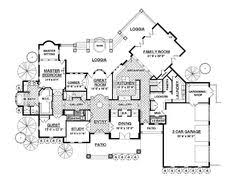 Cottage Floor Plans One Story Love The 2 Story Library In This House House Plans Pinterest
