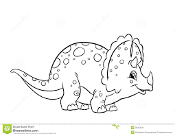 dinosaur triceratops coloring pages stock image image 35333241