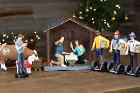 amazon com millennial nativity figurine and stable set hipster
