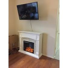 Electric Media Fireplace Harper Blvd Stratford White Faux Stone Electric Media Fireplace