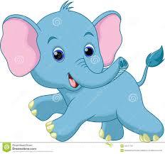 baby elephant cartoon royalty free stock photos image 16518368