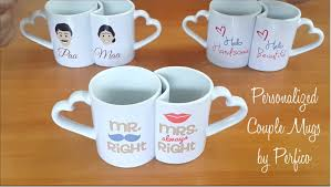 personalized couple mugs from perfico perfect romantic gift