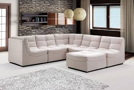 living room unexpectable modular sectional with elegant pillows