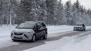 opel zafira 2017 2017 opel zafira spied with more conventional headlights