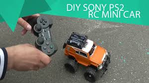 how to make a car with the sony ps2 joystick remote control youtube