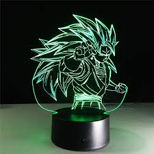 figurines dragon ball super saiyan 3 goku 3d table lamp 2016