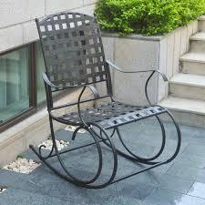 Iron Wrought Patio Furniture by International Caravan Santa Fe Iron Metal Patio Rocker Walmart Com