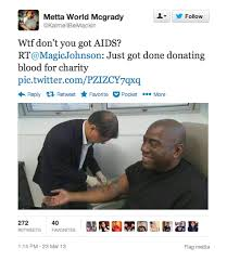 Magic Johnson Meme - here for justin no magic johnson didn t partake in a charity blood