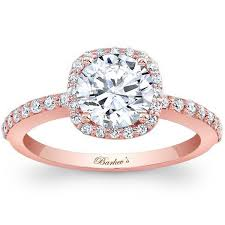 gold diamond engagement ring barkevs 14k gold cushion halo diamond engagement ring
