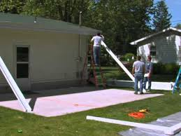 How To Build A Backyard Patio by How To Install The Teton Patio Cover Part 1 Youtube