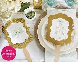 rustic wedding fan programs personalized gold glitter fan rustic wedding designs