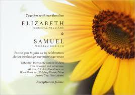 sunflower wedding invitations sunflower wedding invitations templates sunflower wedding