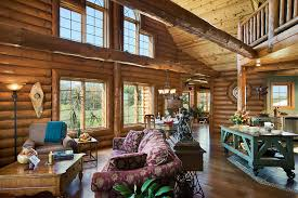 Log Home Photos Greatrooms  Family Rooms  Expedition Log Homes - Great family rooms