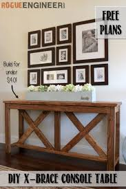 diy x brace console table free plans console tables consoles