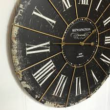 extra large shabby chic kensington station wall clock antique