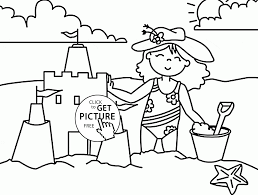 fun summer beach coloring page for kids seasons coloring pages