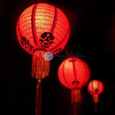 12 traditional new year paper lantern string light combo